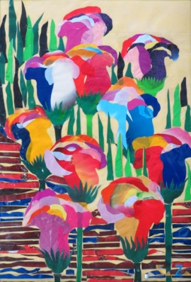 San Zaw Htway Prison recycled art Flowers