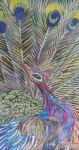 San Zaw Htway peacock image recycled art collage