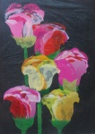 San Zaw Htway flower image recycled art collage